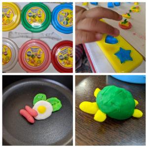2歳児と家で粘土遊び