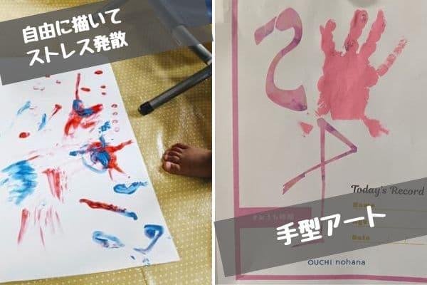 水性絵の具で手型アート