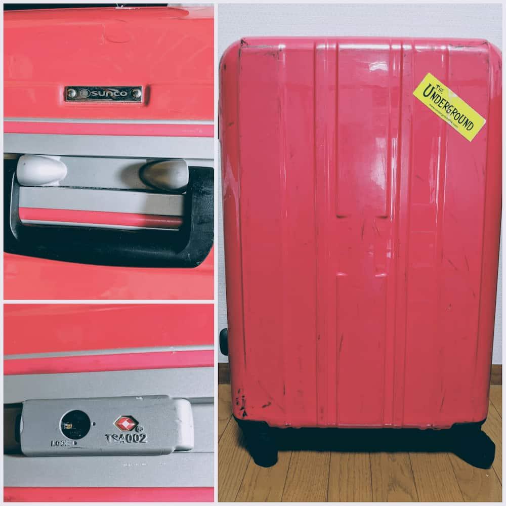 sancoのスーツケース全貌