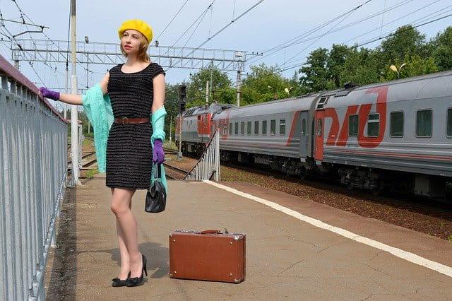 懐かしい時代の人が旅に出る